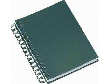 284L - Agenda Wire-o Metalizada Lisa Verde Personalizada