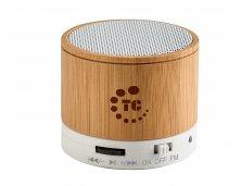 57256 - Caixa de Som com Microfone em Bambu