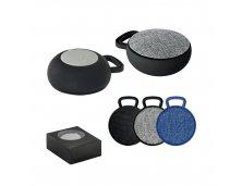 57385 - Caixa de Som com Microfone em ABS e Tecido em Poliéster