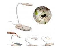 58517-3 - Luminária de Mesa em Fibra de Palha de Trigo com Carregador Wireless