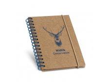 93707 - Caderno de Bolso Espiral com Papel Reciclado e Capa Dura em Cartão