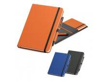 93795 - Kit de Caderno A5 e Esferográfica em Couro Sintético