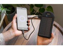 97371 - Bateria Portátil/Power Bank Solar em ABS com Painel Solar e LED
