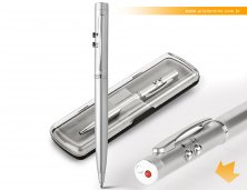 91821_44 - Caneta Executiba em Metal com Laser Point e Led