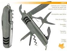S-1263 - Canivete Personalizado com 7 Funções
