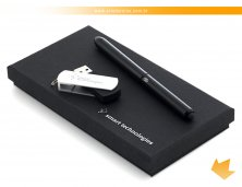 57334_03 - Conjunto com Caneta Esferográfica e Pen Drive 8 Gb