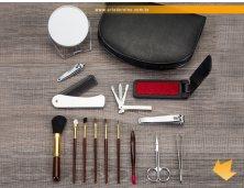 127 - Kit Manicure e Pinceis para Maquiagem 15 Peças