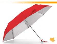 99135_05AR - Sombrinha Vermelha com Interior Prata