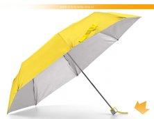99135_08AR - Sombrinha Amarela com Interior Prata