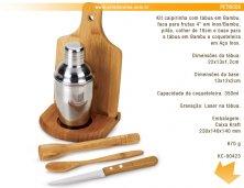 KC-00423 - Kit Caipirinha em Bambu Personalizado