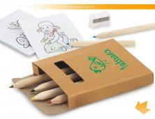 91758_60 - Kit Mini Lápis de Cor, Apontador e Cartões para Pintar