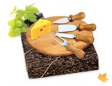 ARPD-15043S - Brinde Kit Queijo em Bambu Personalizado - 5 Peças