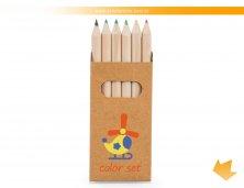 91750_60 - Mini Lápis de Cor com 6 Peças