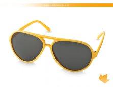 38250-08AR - Óculos de Sol Amarelo Aviador tipo Rayban