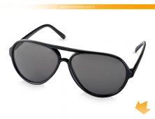 38250-03AR - Óculos de Sol Preto Aviador tipo Rayban