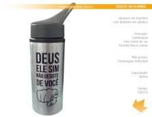 2502 - Brinde Squeeze em Alumínio (Sublimação) 600 ml Personalizada