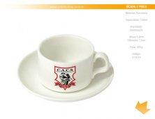 311014 - Brinde Xícara com Pires em Porcelana Personalizado
