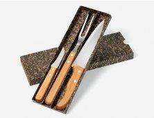 KF-00713 - Kit de Facas em Bambu com Garfo - 3 Pçs