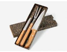 KF-00723 - Kit de Facas em Bambu - 3 Pçs