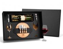 KT-90007 - Conjunto Queijo e Vinho com Espaço para Garrafa - 9 peças