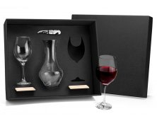 KT-90067 - Conjunto para Vinho com 2 Taças - 6 peças
