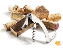 ARPV-00550 - Brinde Promocional Kit Abridor Saca Rolha em Metal para Vinho Personalizado