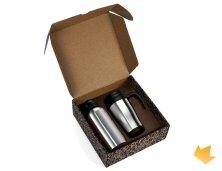iIX-41601S - Kit Caneca Térmica Inox 410ml e Squeeze 600ml Personalizados