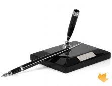 ARICT-68001S - Brinde Promocional Caneta Tinteiro em Metal com Base