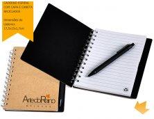 ARiLE-05501 - Brinde Promocional Caderno Espiral com Capa e Caneta Reciclados Personalizado