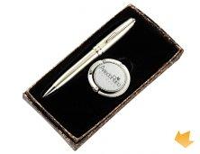 ARiSB-02709S - Brinde Promocional Suporte para Bolsas com Caneta Executiva Personalizado